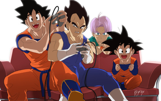 [7 Animes Indispensáveis] - Video Games - Era Moderna Parte 1 Goku_and_vegeta_playing_video_games_by_wolfkeyren-d9kj5un-563x353